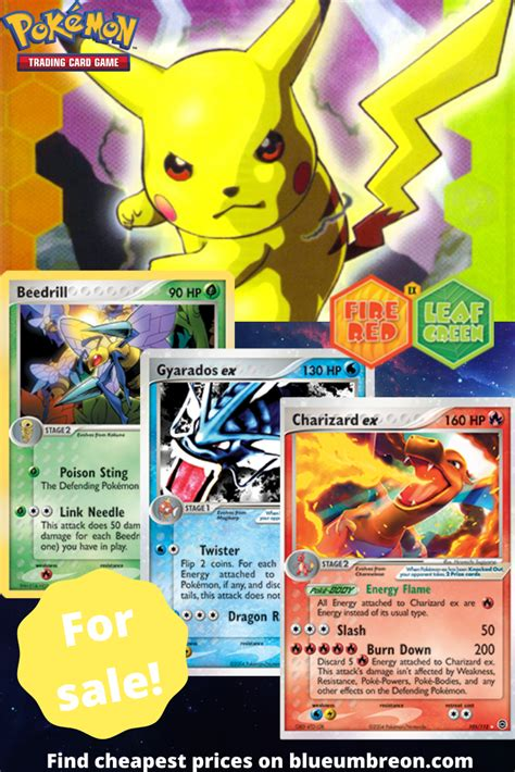 Buy all the rarest Ex Fire Red Leaf Green Pokemon cards at