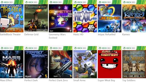 Here's the list of the Xbox 360 games you can play on your
