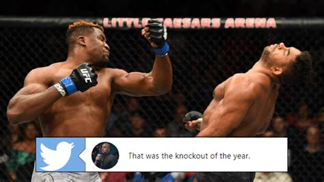 Francis Ngannou had a knockout-of-the-year candidate with