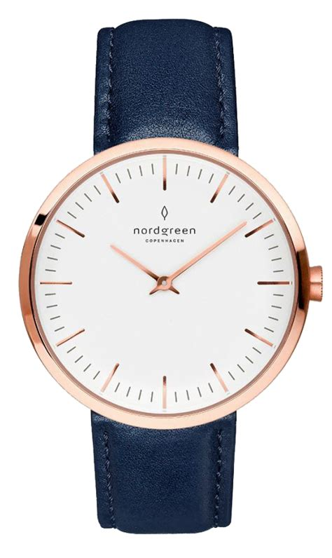 Nordgreen - Infinity - Rose Gold | Navy Blue Leather
