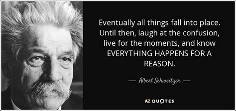 Albert Schweitzer quote: Eventually all things fall into