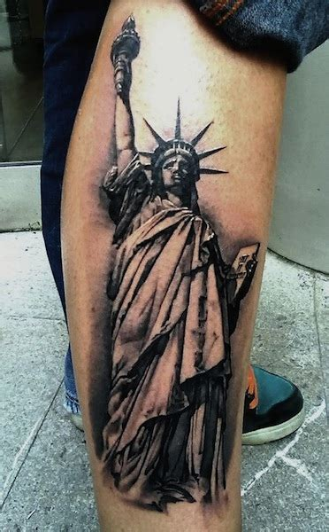 Statue of Liberty Tattoos Designs, Ideas and Meaning