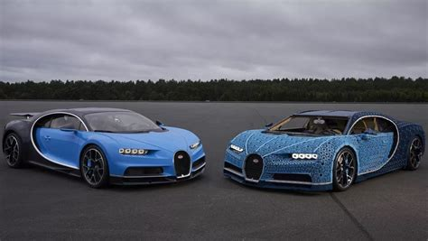 The Lego Bugatti Chiron is like a real-life low-res