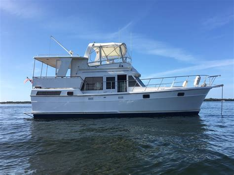 1985 Heritage East 40 DC Trawler Power Boat For Sale - www