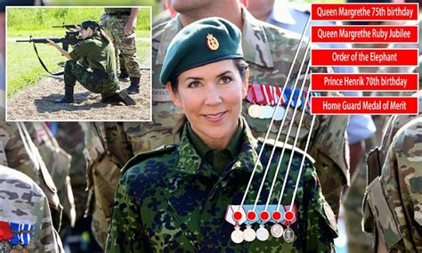 Crown Princess Mary proudly displays her FIVE medals