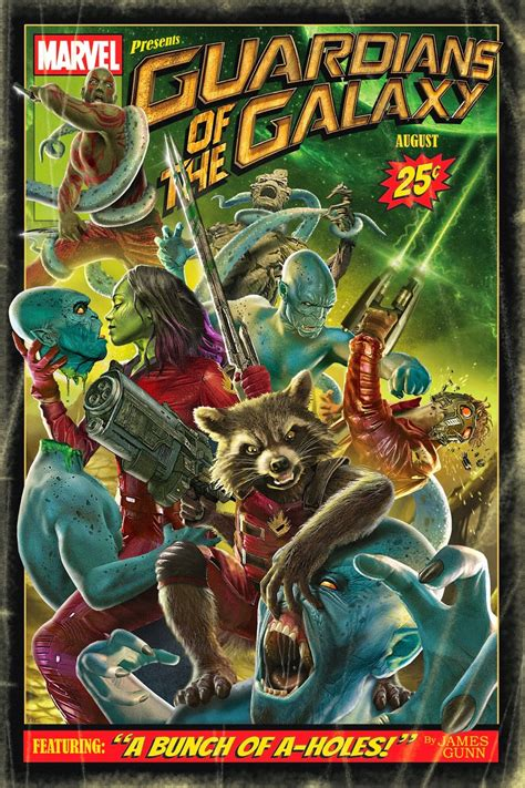 Vintage Style Comic Poster for GUARDIANS OF THE GALAXY