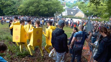 2017 Cheese Rolling event on Coopers Hill Gloucester UK
