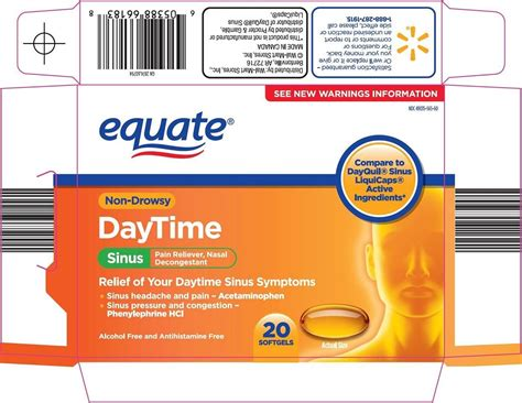 Equate sinus day time (capsule, liquid filled) Wal-Mart