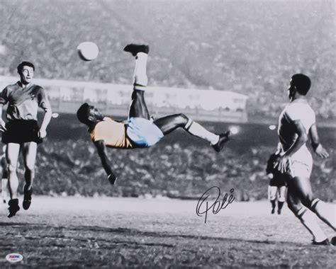 """Pele Personally Signed """"Bicycle Kick"""", Framed, PSA/DNA"""