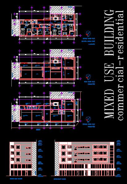 Mixed - Use Building DWG Plan for AutoCAD • Designs CAD