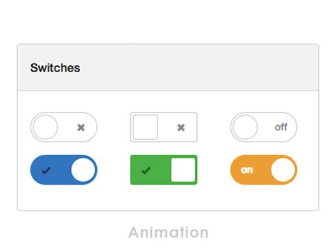 Bootstrap Ui Kit - switches by Norm - Dribbble