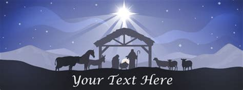 Christmas Nativity Scene Silhouette With Angels Stock