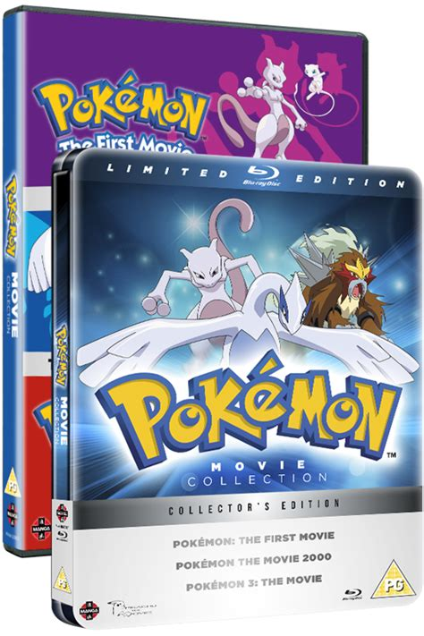 Pokemon Movie 1-3 Collection on DVD and Limited Edition