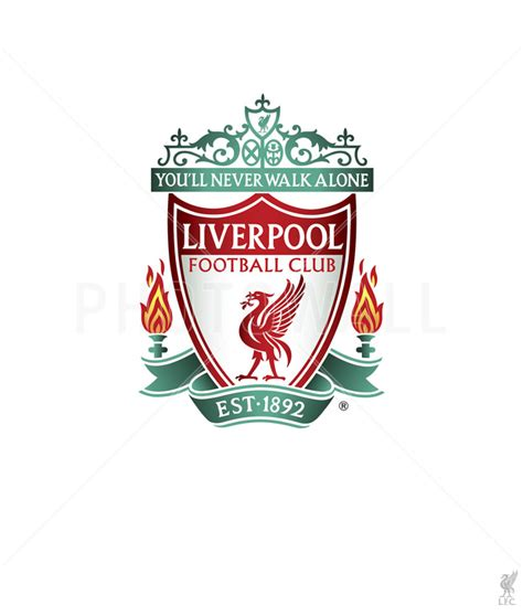 Liverpool FC - Crest on White Background - Fototapeter