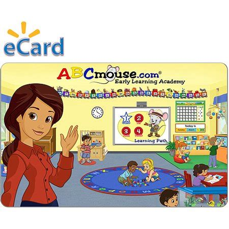 Abcmouse 6 Month Gift Card (email Delivery) - Walmart