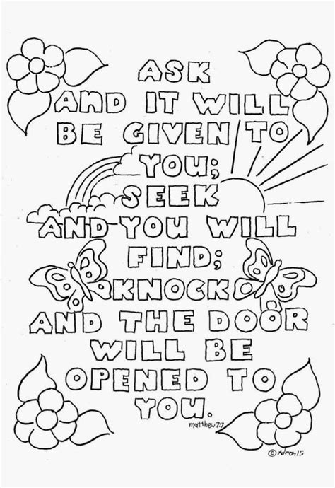 Bible Verse Coloring Pages Online Bible Free Sunday School