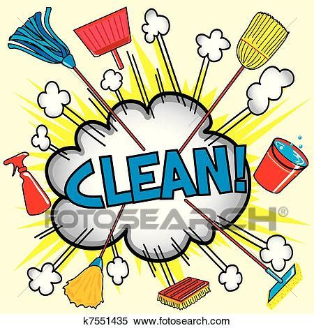 Cleaning Cloud Clipart | k7551435 | Fotosearch