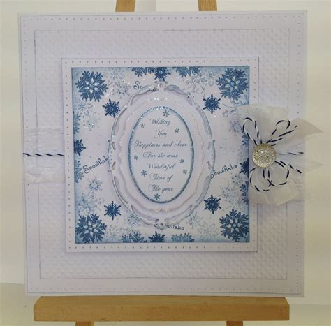 8x8 Card, made by me, using Sentimentally Yours Snowflake