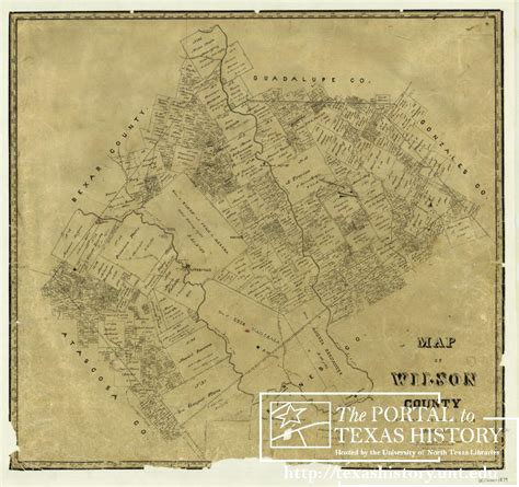 Map of Wilson County - The Portal to Texas History