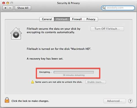 Use FileVault to Get Full Disk Encryption in Mac OS X