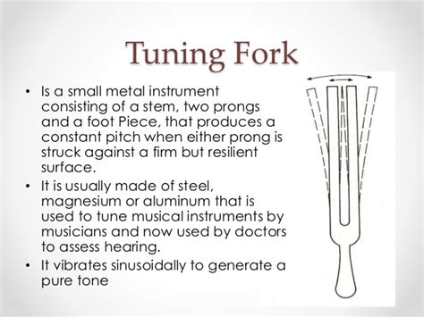 Tuning fork test