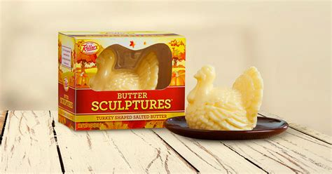 You Can Now Get a Turkey Shaped Butter Sculpture For Your