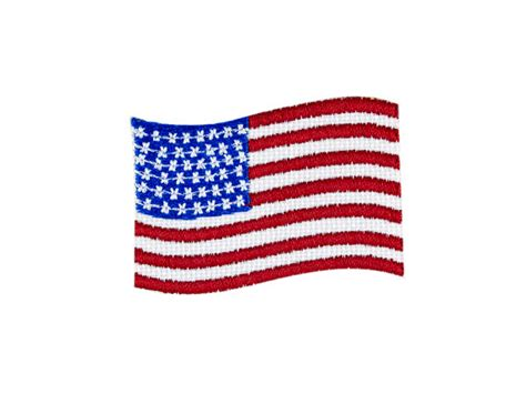 USA American Flag Emoji Embroidered Iron On Patch Applique