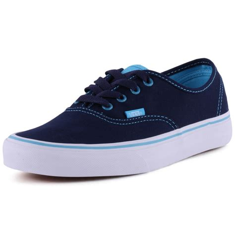 Vans Clear Eyeletes Authentic Womens Trainers in Dark Blue