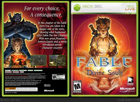 Fable:Divine Souls Xbox 360 Box Art Cover by Ayron