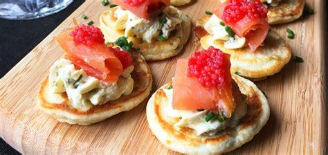 Chive Blini with Smoked Ocean Trout Recipe - High Tea Society