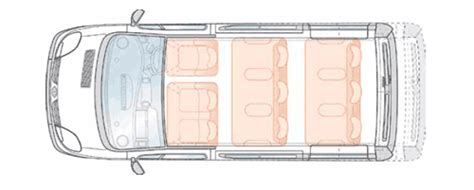 Minibus Dimensions & Seating Layouts - Common UK Specific