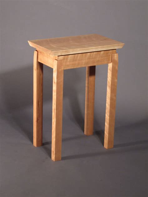A pair of small narrow end tables- solid wood furniture