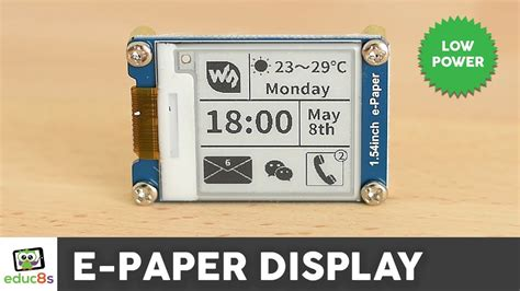 Arduino E-Paper Display Review ( Waveshare 1