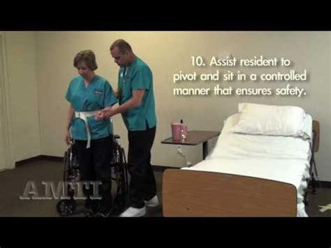CNA Skills: Transfer From Bed to Wheelchair using a Gait