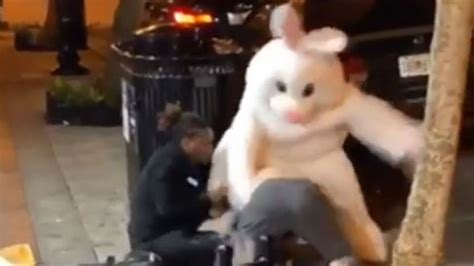 Easter Bunny Hops into Middle of Downtown Orlando Fight