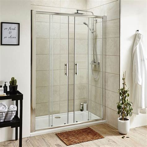Pacific Double Sliding Shower Door with Shower Tray