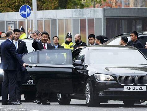Chinese president Xi Jinping and his wife in Manchester on