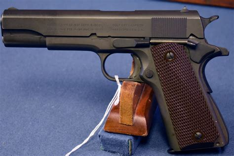 SOLD EXCEPTIONAL US WW2 COLT 1911A1 US ARMY PISTOL…
