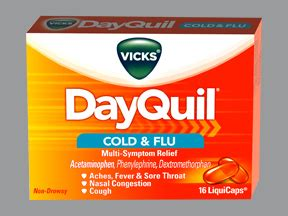 Vicks DayQuil Cold and Flu Relief oral Drug information on