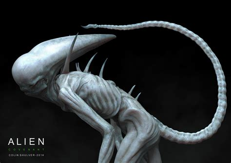 Alien: Covenant Early Neomorph Concept Art by Colin