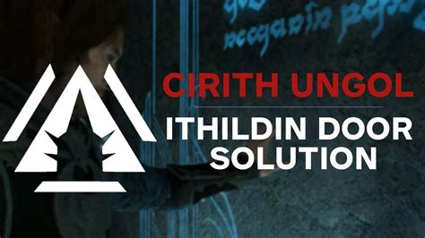 Cirith Ungol Ithildin Door Poem Solution - Middle-earth